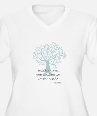 Be the Change Tree Plus Size T-Shirt