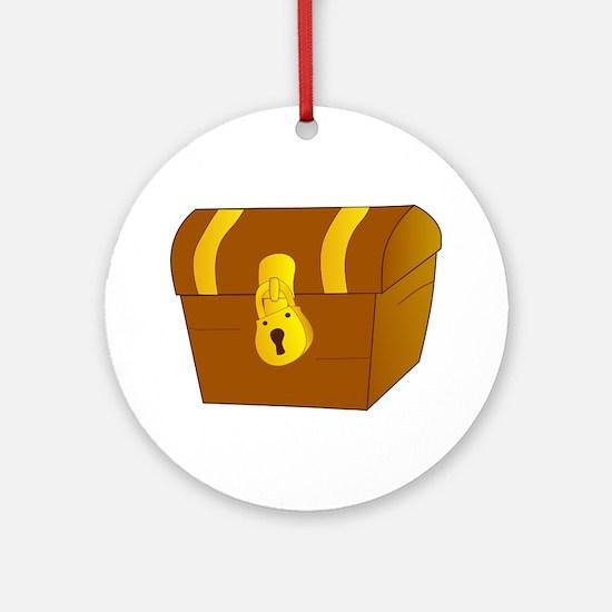 Treasure Chest Ornament (Round)