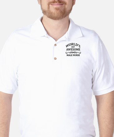 World's Most Awesome Male Nurse Golf Shirt