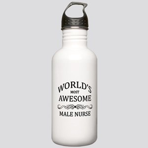 World's Most Awesome Male Nurse Stainless Water Bo