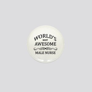 World's Most Awesome Male Nurse Mini Button