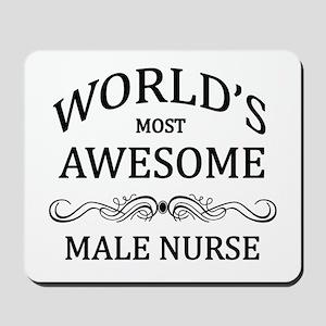 World's Most Awesome Male Nurse Mousepad