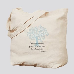 Be the Change Tree Tote Bag