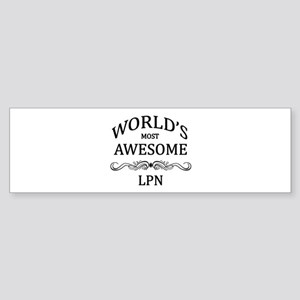 World's Most Awesome LPN Sticker (Bumper)