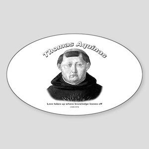 Thomas Aquinas 01 Oval Sticker