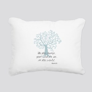 Be the Change Tree Rectangular Canvas Pillow