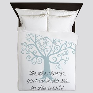 Be the Change Tree Queen Duvet