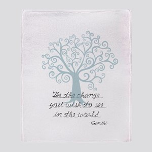 Be the Change Tree Throw Blanket