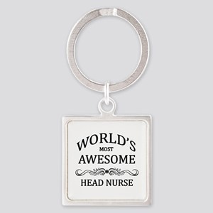 World's Most Awesome Head Nurse Square Keychain