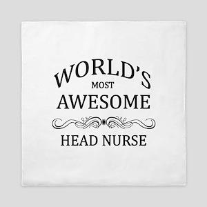 World's Most Awesome Head Nurse Queen Duvet