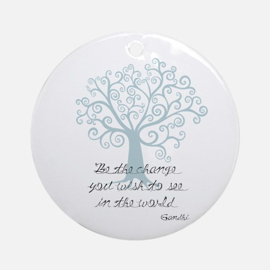 Be the Change Tree Ornament (Round)