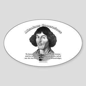 Nicolaus Copernicus 01 Oval Sticker
