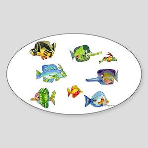 8 Cartoon Fish Sticker