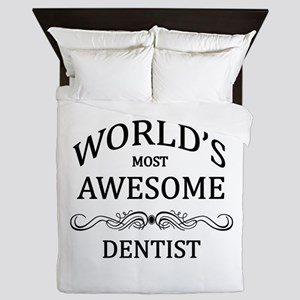 World's Most Awesome Dentist Queen Duvet