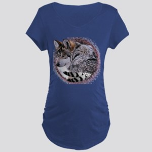 Lace Wolf Maternity Dark T-Shirt