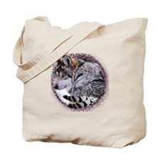 Lace Wolf Tote Bag