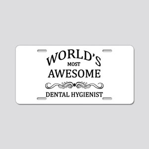 World's Most Awesome Dental Hygienist Aluminum Lic