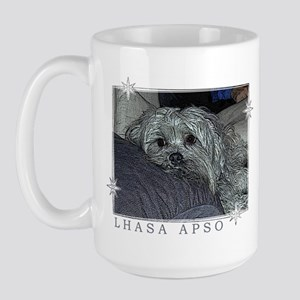 Lhasa Apso Pop Art Blitz Large Mug