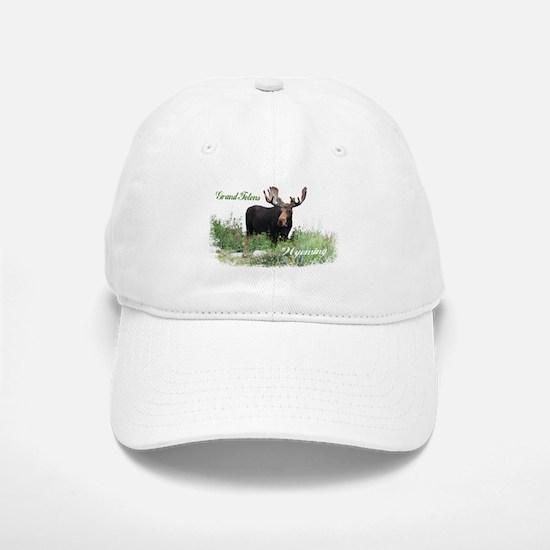 Grand Tetons WY Moose Baseball Baseball Cap