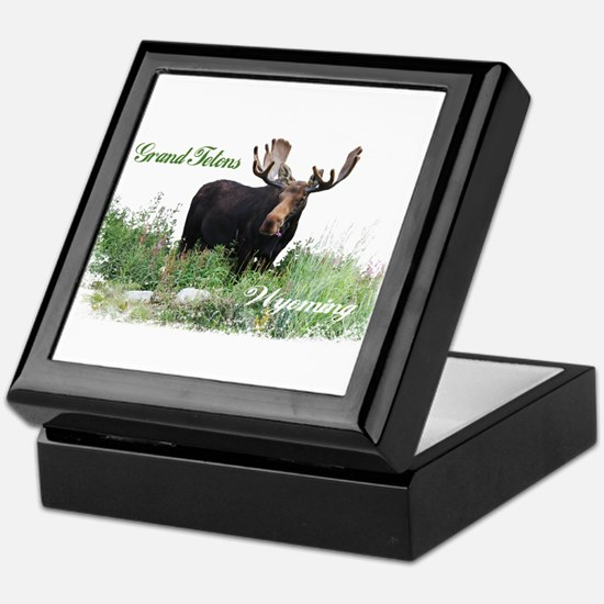 Grand Tetons WY Moose Keepsake Box