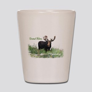 Grand Tetons WY Moose Shot Glass