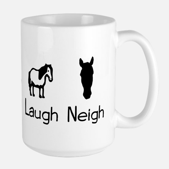 live love laugh neigh Large Mug