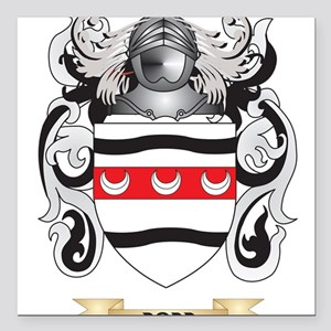 """Dodd Coat of Arms Square Car Magnet 3"""" x 3"""""""