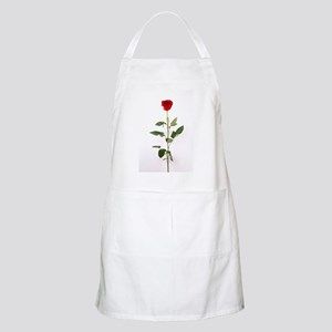 Single Red Long Stem Rose Apron
