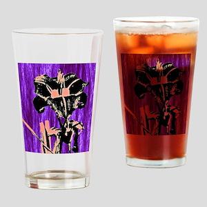 Daylily Sketch 1 Drinking Glass