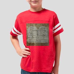 10 Commandments Lg Clock Youth Football Shirt