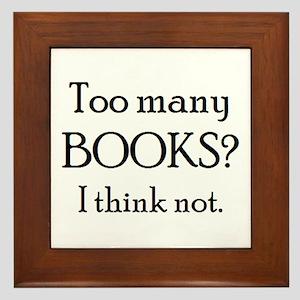 too many books Framed Tile