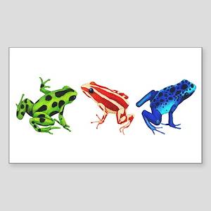 Three Dart Frogs Sticker