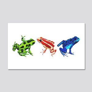 Three Dart Frogs Wall Decal Sticker