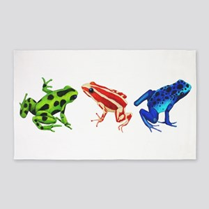 Three Dart Frogs 3'x5' Area Rug