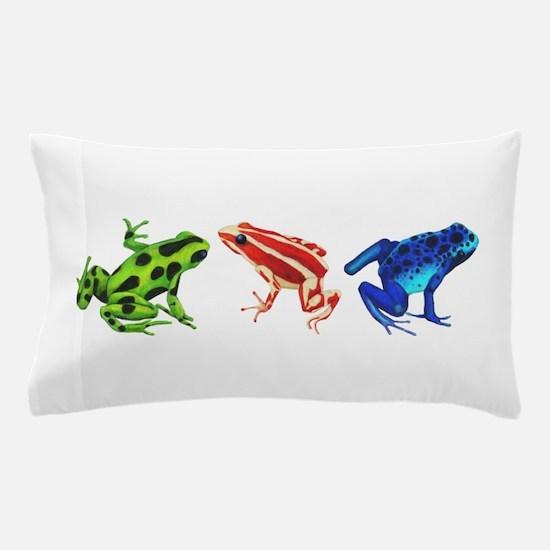 Three Dart Frogs Pillow Case