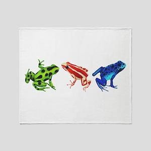 Three Dart Frogs Throw Blanket