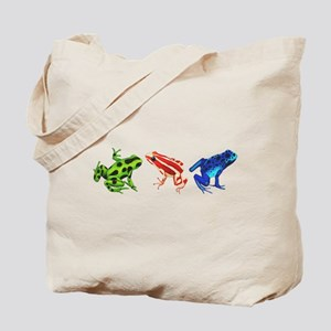 Three Dart Frogs Tote Bag