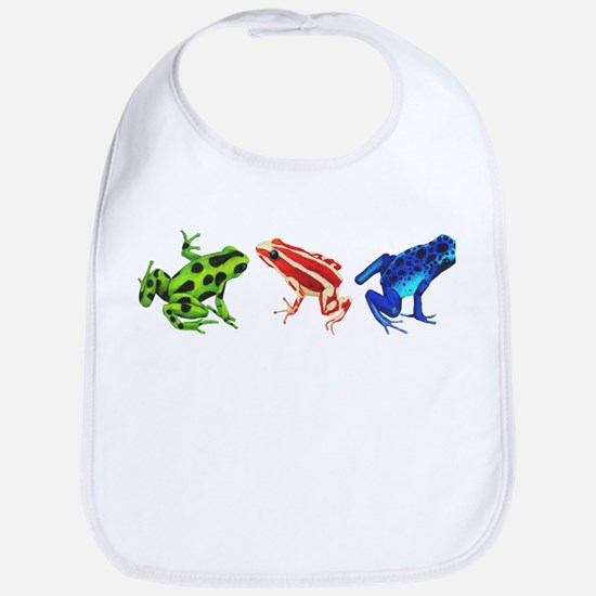 Three Dart Frogs Bib