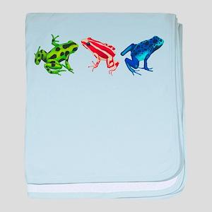 Three Dart Frogs baby blanket