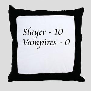 Slayer vs. Vampires Throw Pillow