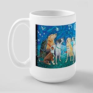 Fun Bright 7 DOG NIGHT Large Mug