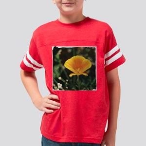 California Poppy Tile Items Youth Football Shirt