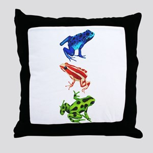 Dart Frogs Throw Pillow