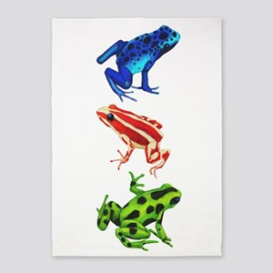 Dart Frogs 5'x7'Area Rug