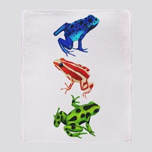 Dart Frogs Throw Blanket