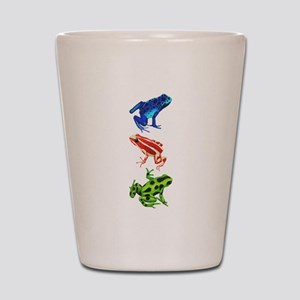 Dart Frogs Shot Glass