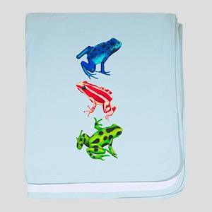 Dart Frogs baby blanket