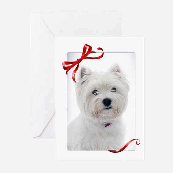 Westie Christmas Greeting Cards