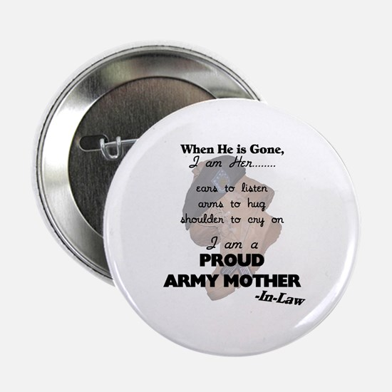 Proud Army Mom-In-Law Button