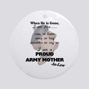 Proud Army Mom-In-Law  Ornament (Round)